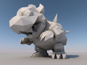 Low Poly Bowser 64