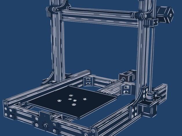 Adamantine Leadscrew Reprap 3D Printer by Kyo - Thingiverse