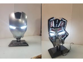 Iron Man MK2 MK 2 Faceplate Mask interieur