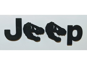 Jurassic Park T-Rex Jeep Wrangler emblem