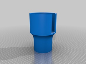 Large mug to cup adapter for car cupholders