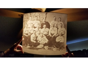1886 Detroit Wolverines Lithophane