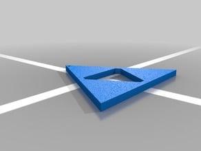 Triforce keychain