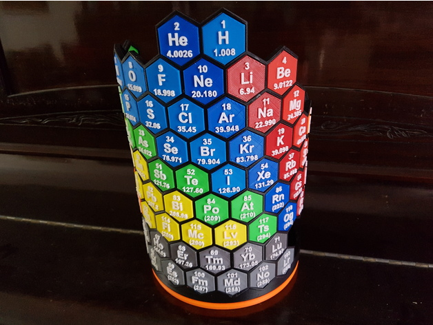 3d Periodic Table By Ezesko Thingiverse