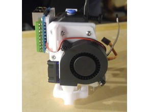 """Carriage for BMG and BLTouch with Duct and RJ45 mounts, """"Over the Top"""" Style"""