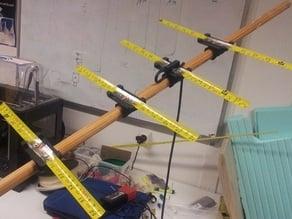 Retractable yagi antenna parts