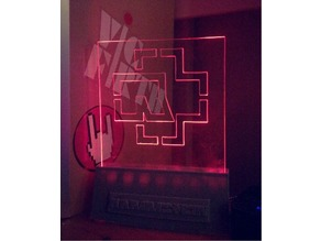 rammstein acrylic light logo