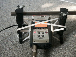 Spider mount for H4n field recorder for 15mm rod systems