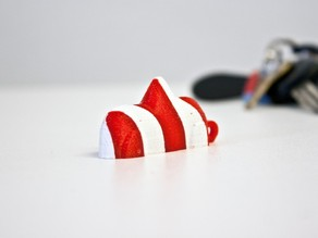 Swedish Candy Car Keyring - CandyCane Edition!