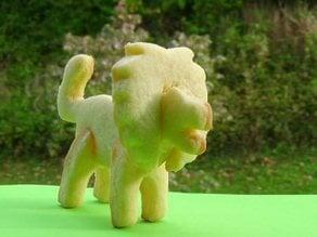 3d cookie cutter LION