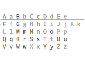 Letters 20 mm for Resizing and Scaling with Fixation