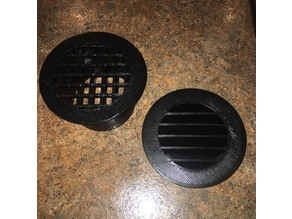 Louvered Vent with bug screen