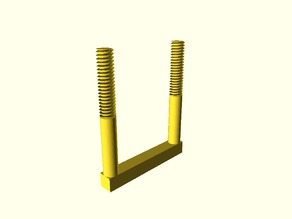 Parametric Square U-Bolt and Nuts