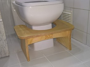 Toot Stool - Enhanced Bathroom Footstool