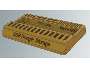 USB Dongle SD Card storage organizer