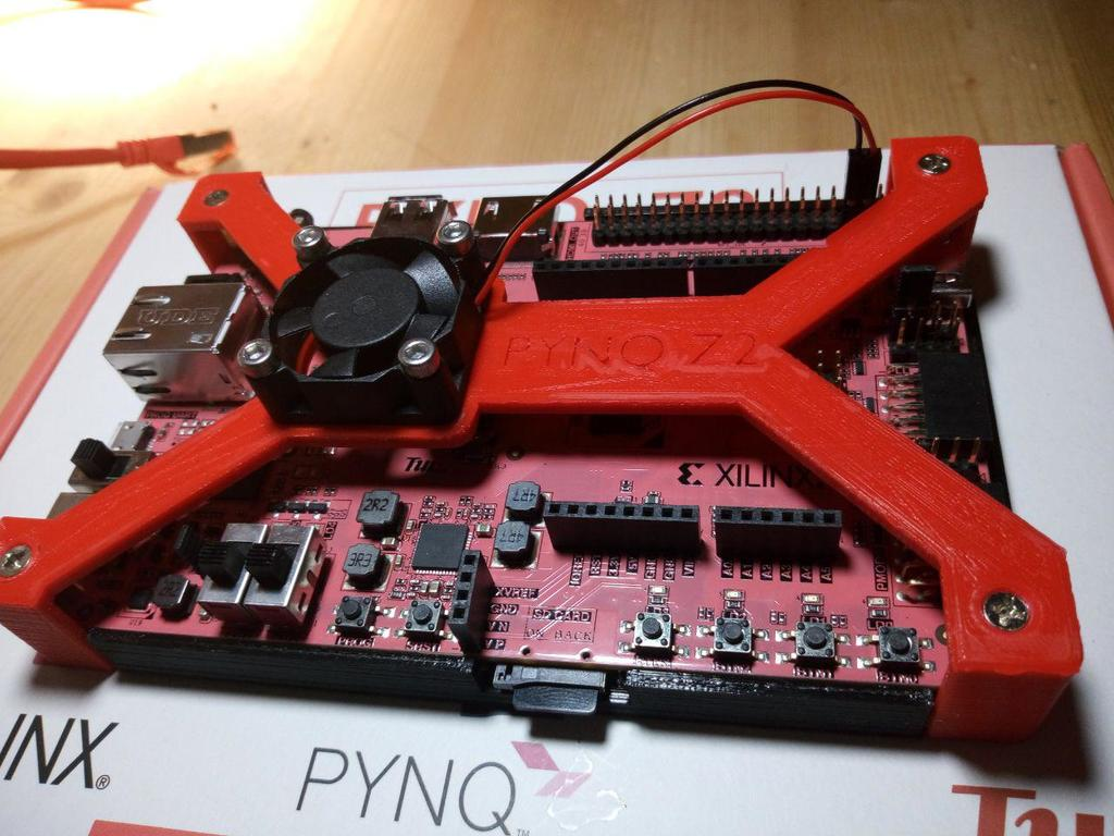 PYNQ-Z2 Fan Support by IU8IHA - Thingiverse