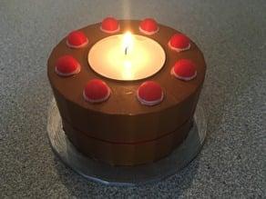 Portal Cake Tea Light Holder