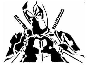 Deadpool stencil 4