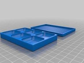 2x3 30x30x7  Screw Tray/Box with perforated lid