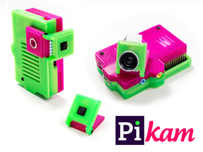 PiKam - Flat Camera Case for Raspberry Pi with Magnetic Holder