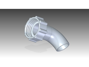 Drain elbow with nut S60*6 / IBC 1000L