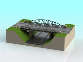 1:32 scale slot car truss bridge V-1