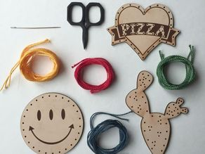 Leather patches (laser-cut)