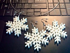 Snowflake pendant and earrings
