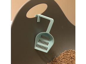 Cat Litter Scoop with Clip