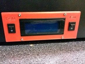 CTC Bizer Displayblende mit 2 Schaltern / Display cover with 2 switches