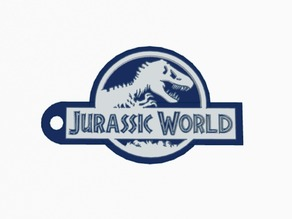 Jurassic world key chain