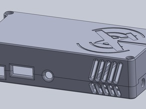 Stratux Nano SDR dual case with fan antennas mount on the end