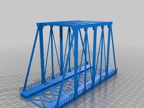 H0 scale model railroad modular bridge