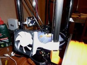 Kossel Pro 80mm Fan Mount