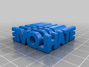 My Customized Two Word Sculpture