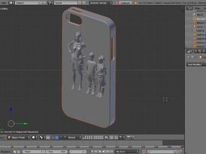 iphone 5 personalized with 3D scanned family