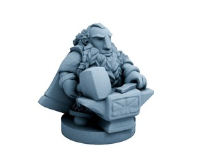 Dwarfclan Forgemaster (18mm scale)