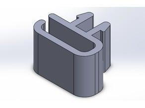 Flat ribbon cable clip