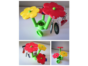 LEGO flower - earring stand with box