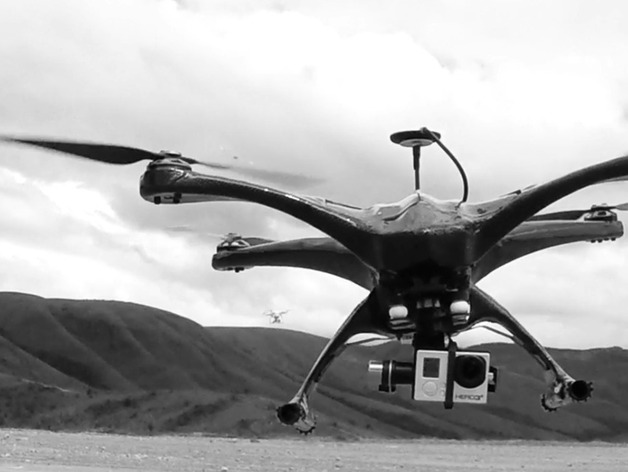 Custom carbon fiber quadcopter frame _ R-Fly by bernardobls ...