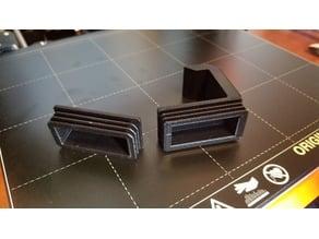 Headphone holder end-cap for standing desk