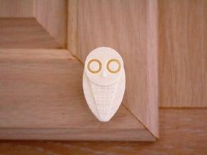 Snowy Owl knob pull (cabinet handle)