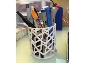Open Geometric Pen/Pencil Cup
