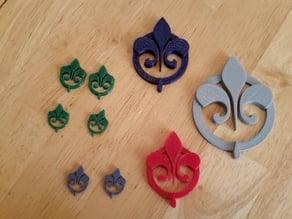 """The Originals"" TV Show Fleur-de-lis Logo Jewelry (pendant or earrings)"