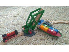 Brio Ikea compatible container ship and drawbridge
