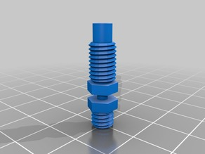 e3d v5 v6 stainless heat break with nut