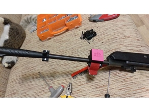 6mm laser dot mount for Hatsan with 16mm trunk combined with belt