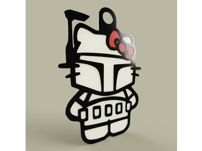 StarWars - Hello Kitty - Boba Fett - KeyChain