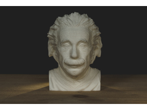 Albert Einstein Bust lite without shoulders