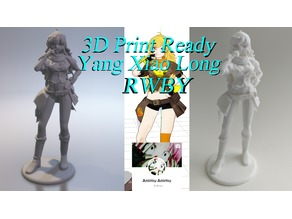 3D PRINT READY!! Yang Xiao Long from RWBY